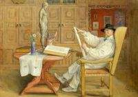 "Carl Larsson, ""Self Portrait in the New Studio"""