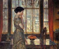 Childe Hassam - New York Winter Window, 1919