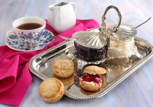 Pretty Silver Server for Jam and Clotted Cream!
