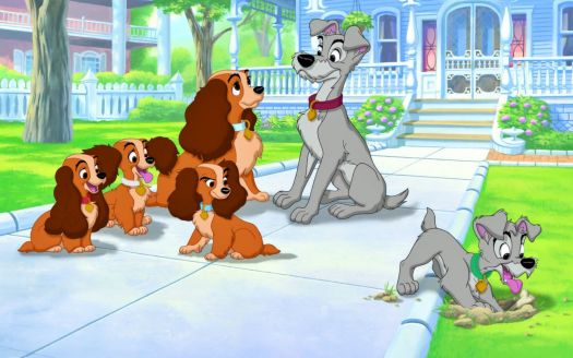Solve Lady And The Tramp With Puppies Jigsaw Puzzle Online With 228 Pieces