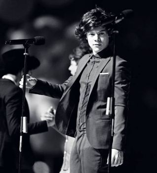 Harry Styles at the Olympic Closing Ceremonies