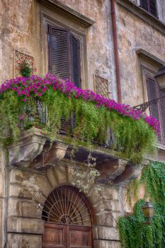 Balcony in Rome, Italy