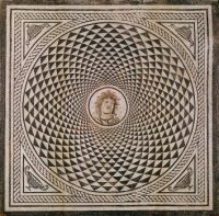 Roman Mosaic Floor with head of Medusa