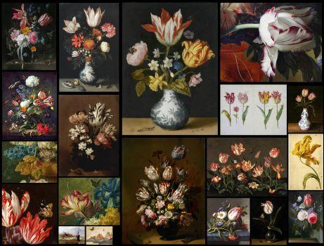 Dutch Golden Age Tulips 252 Pieces Jigsaw Puzzle