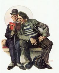 Two Men Reading Detective Stories (The Interlopers)