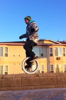 Bet you can't unicycle!