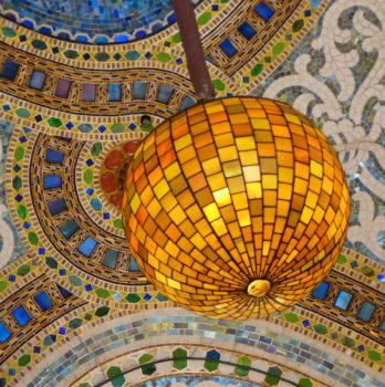 Tiffany mosaic and light