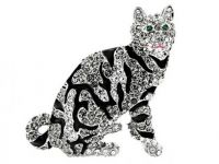 Bengal cat brooch