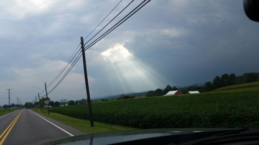 A RAY OF HOPE FROM ABOVE