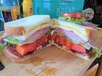 Ham, Roast Beef, Bacon, Swiss cheese, Tomato, Lettuce Sandwich