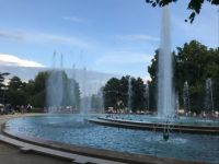 Fountain on Margit Sziget Island, Danube River