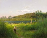 Delaware trout fishing by Hermann Herzog