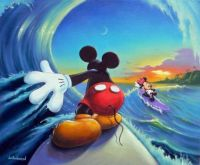 Mickey and Minnie go Surfing