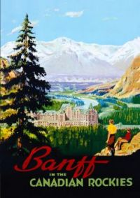 Banff Canada Vintage Travel Poster