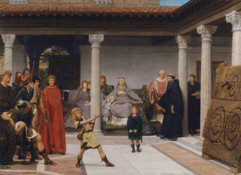 Lawrence Alma-Tadema - The Education of the Children of Clovis