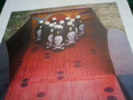 """""""Off the plank"""" bowling backdrop"""
