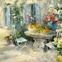 Idyllic Garden by Willem Haenraets
