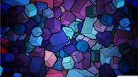 Abstract Purple Cubes