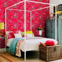Floral Wallpaper Bedroom