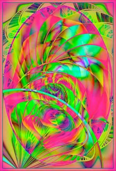 Abstract in Pink and Green!