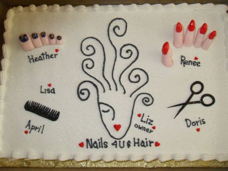 cake for new hair salon