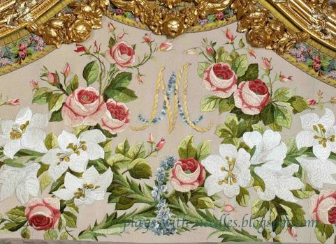 Marie Antoinette's bedroom embroidery
