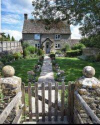 Cottage and garden gate