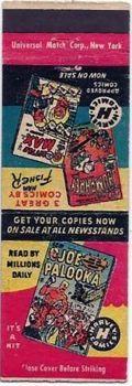 Harvey Comics matchbook from 1949