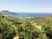 View of Plakias, Crete, from olive groves above