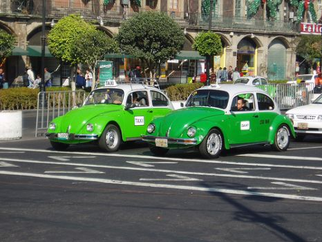 Green VW Beetle Taxis