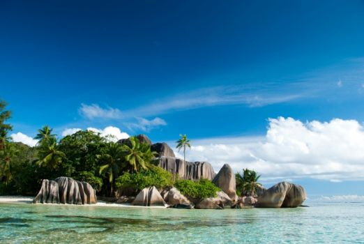 Anse Source d'Argent beach on the island of La Digue in Seychelles