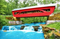 A Pretty Open Air Covered Bridge