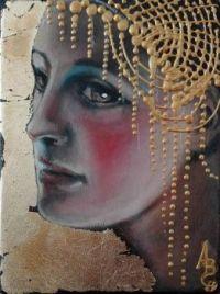 Angela Betta Casale 1954 Figurative  Symbolist painter