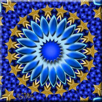 Kaleido In Blue and Gold.....
