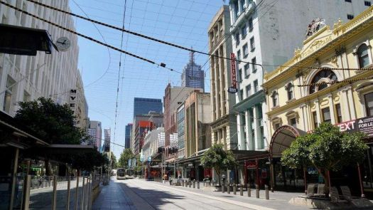 Melbourne in lock down