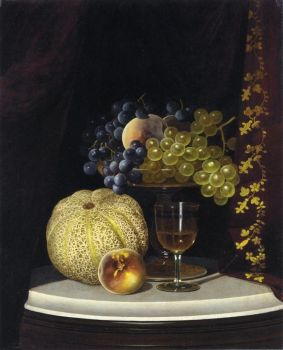 Cateloupe and Grapes