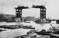 Tower Bridge being built
