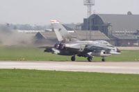 Tornado GR4 (41 sqdn) starting take off run at RAF Coningsby