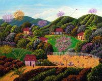 Landscape Artist Alonso Flores..Village Playground