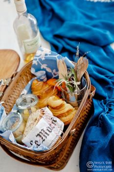Blue and White Picnic