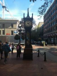 Steam powered clock