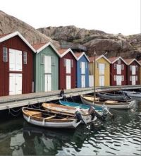 Swedish boathouses