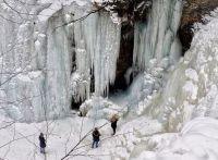 Raymondskill Falls, PA, Pike County, frozen 1-9-18
