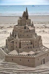 Sand Castle on Jersey shore  6708