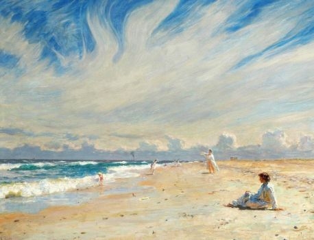 "Solve Laurits Tuxen, ""Seaside Life on Skagen Beach"" jigsaw puzzle ..."