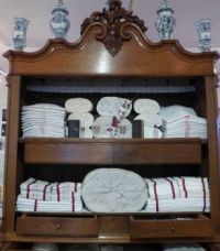 The linen Museum Aalten.  The 'pronkkast' filled with the housewives linen.