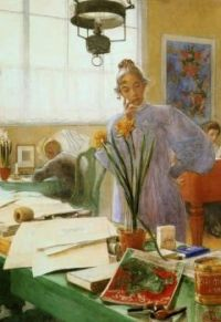 "Carl Larsson, ""My Wife"""