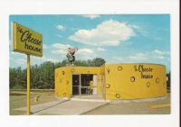 Vintage Postcard cheese house