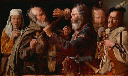Georges de La Tour: Riña de músicos, 1625/30