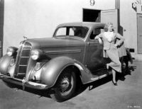Ginger Rogers and her 1937 Dodge